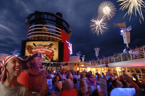 Disney Cruise Ship Fireworks